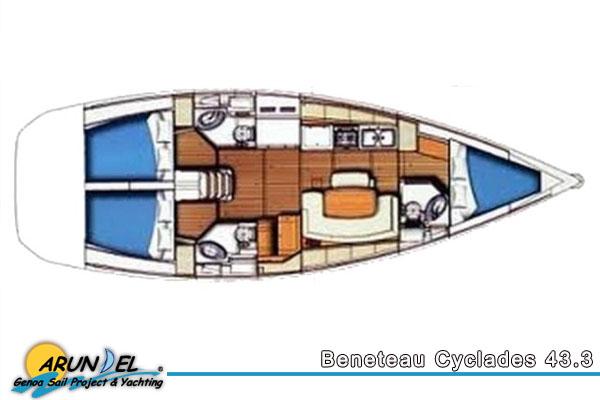 Beneteau Cyclades 43 9